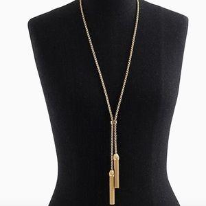 J. Crew Tassel chain necklace